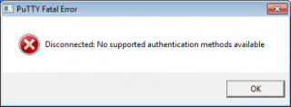 """No supported authentication method available"""